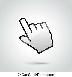 Vector hand clic illustration - Vector illustration of web...