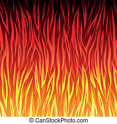 Vector fire background - Vector illustration of fire...