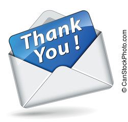 Vector thank you icon - Vector illustration of thank you...