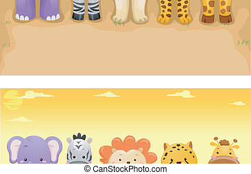Safari Animals Banner