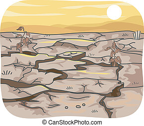 Drought - Illustration Featuring the Effects of Drought on...