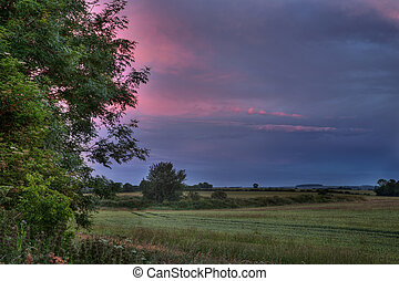 Lincolnshire wolds - The Lincolnshire wolds at sunset