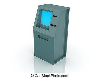 ATM - 3d render of atm machine Finance concept