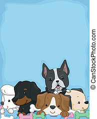 Puppy Background - Background Illustration Featuring Cute...
