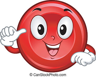 Red Blood Cell Mascot - Mascot Illustration Featuring a...