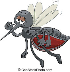 Mosquito Mascot - Mascot Illustration Featuring a Satisfied...