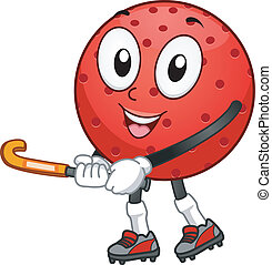 Field Hockey Mascot - Mascot Illustration Featuring a Field...