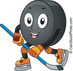 Ice Hockey Mascot - Mascot Illustration Featuring an Ice...