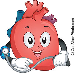 Heart Mascot - Mascot Illustration Featuring a Heart Taking...
