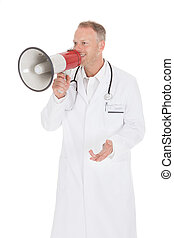 Doctor Screaming Into Megaphone
