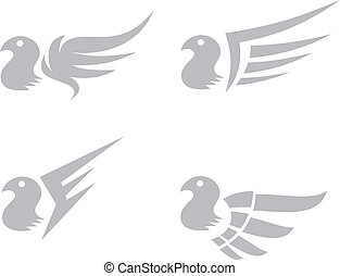 wing art vector graphic art design illustration