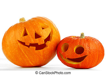 Funny Jack O Lanterns - Two funny Jack O Lantern halloween...