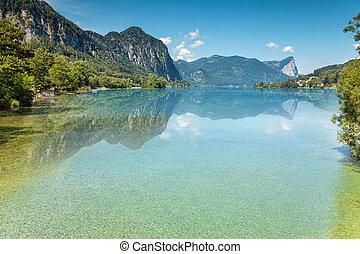 Mondsee,  Austria, lago