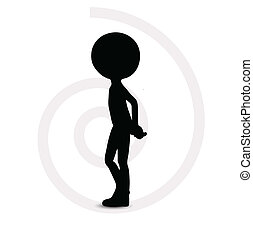 3d man in thinking pose