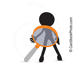 3d man in investigate pose - EPS Vector 10 - 3d man in...