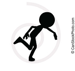 3d man in running pose - EPS Vector 10 - 3d man in running...