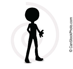 3d man in standing pose