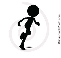 3d man in running pose