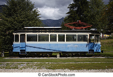 Historic train of Locarno to Domodossolas railway, in Italy