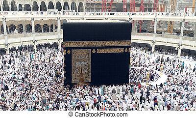 Pligrims, alrededor, Kaaba