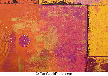 abtract art - abstract acrylic painting, artwork is created...