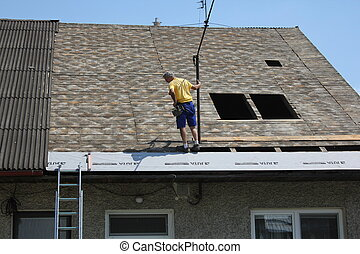 reconstruction of the roof - repair or construction of a new...