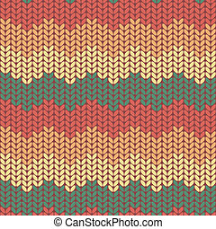 Illustration seamless knitted pattern - Seamless knitted...