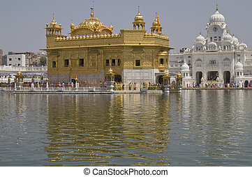 Golden Temple in Amritsar - Golden Temple. Holiest shrine of...