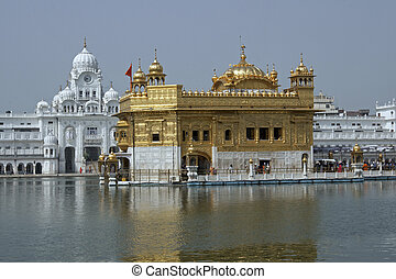 Sacred Temple - Golden Temple. Holiest shrine of the Sikh...