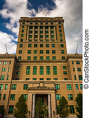 The Buncombe County Courthouse in Asheville, North Carolina....