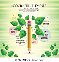creative and ecology template with pencil element - creative...