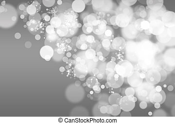 Lights on grey background, with bokeh