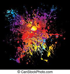 gothic grunge rainbow splat