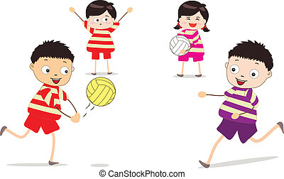 Little children Vector Clip Art Royalty Free. 69,382 Little ...