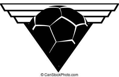 Soccer or Football Triangle Shield