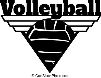 Volleyball Triangle Shield