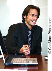 a portrait of businessman