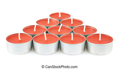 Tea light candles composition - Tea light red candles...