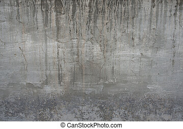 Cracked old gray cement concrete stone wall vintage dirty...
