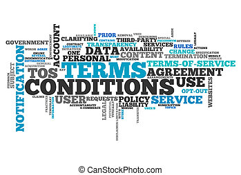 Word Cloud Terms and Conditions - Word Cloud with Terms and...
