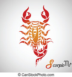 Scorpio Zodiac Sign - vector illustration of Scorpio Zodiac...