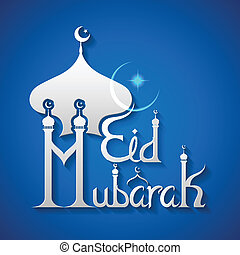 Eid Mubarak Blessing for Eid background - vector...