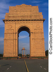 India Gate Memorial to Indian and British soldiers who died...