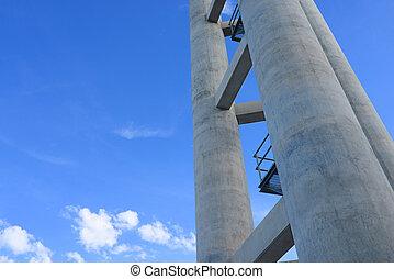 Large cement pole