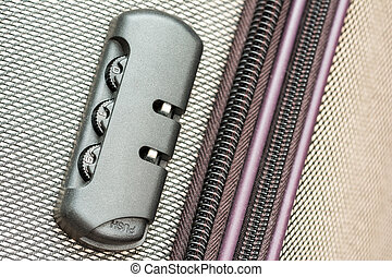 Briefcase Luggage Latch And Lock Close Up