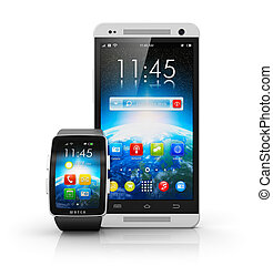 Smartphone and smart watch - Creative mobile connectivity...