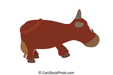Cow Isolated on White Background. Vector Illustration....
