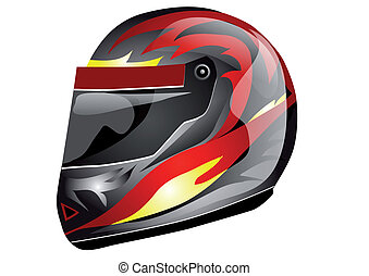 crash helmet isolated on a white background
