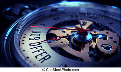 Job Offer on Pocket Watch Face. - Job Offer on Pocket Watch...