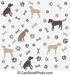 Background with dogs paw print